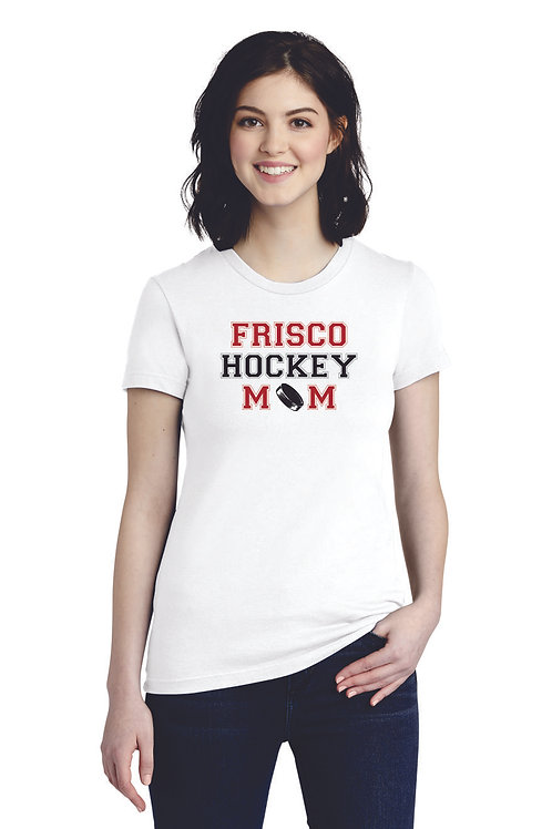 HOCKEY MOM -American Apparel ® Women's Fine Jersey T-Shirt