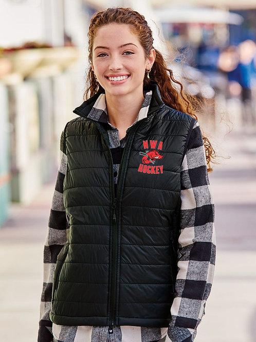 LADIE'S RAZORBACK - Independent Trading Co. - Women's Puffer Vest