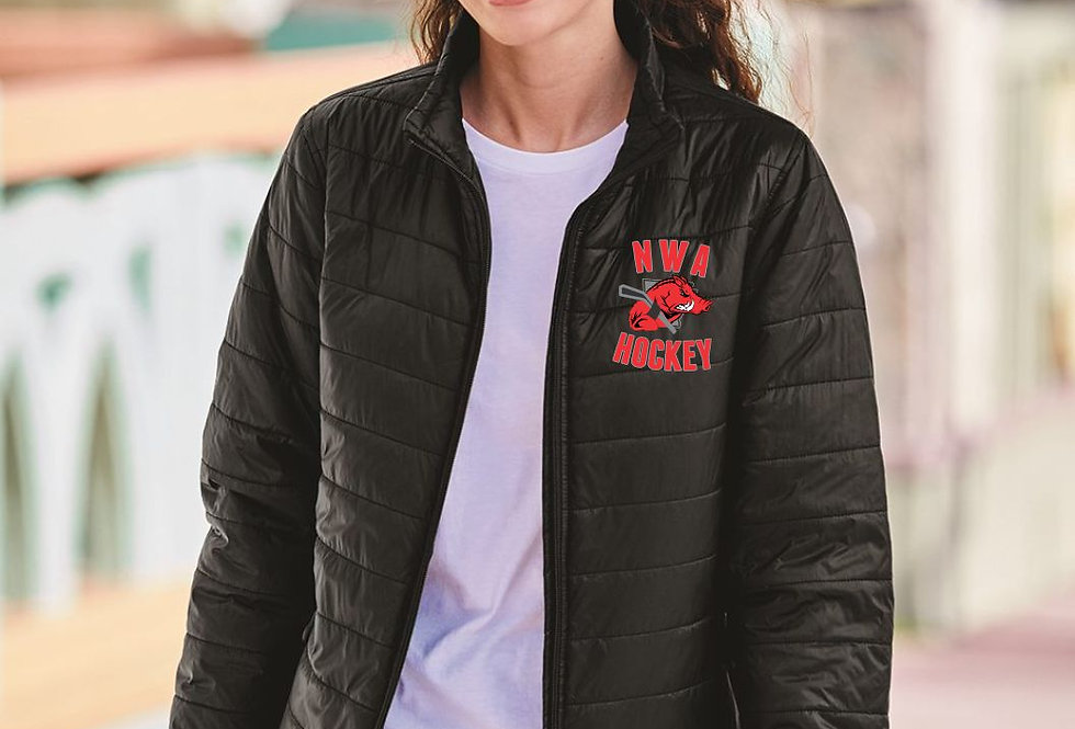 LADIE'S RAZORBACK - Independent Trading Co. - Women's Puffer Jacket