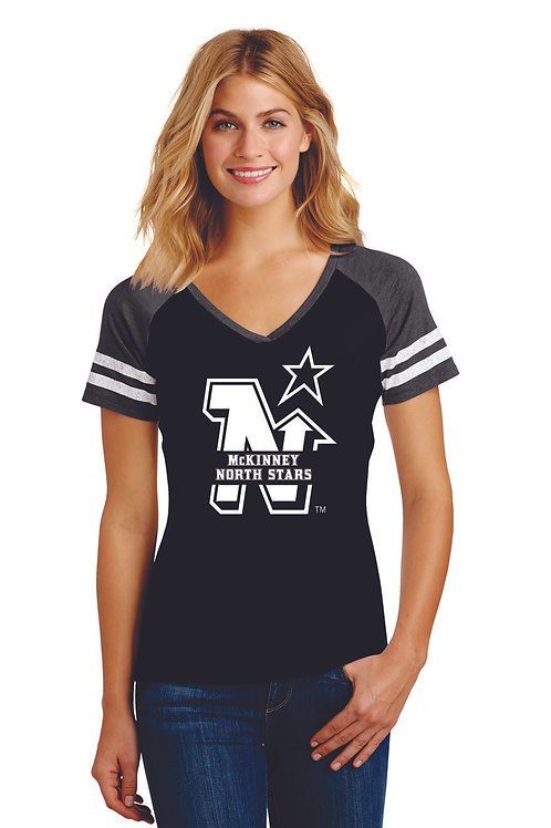 NORTH STARS - District ® Women's Game V-Neck Tee