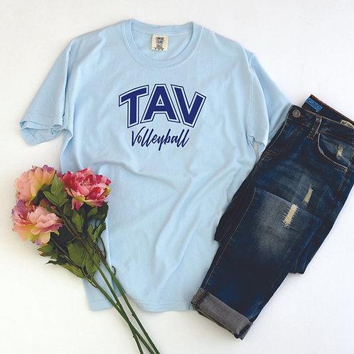 TAV Volleyball Script - Comfort Colors ® Heavyweight Ring Spun Tee