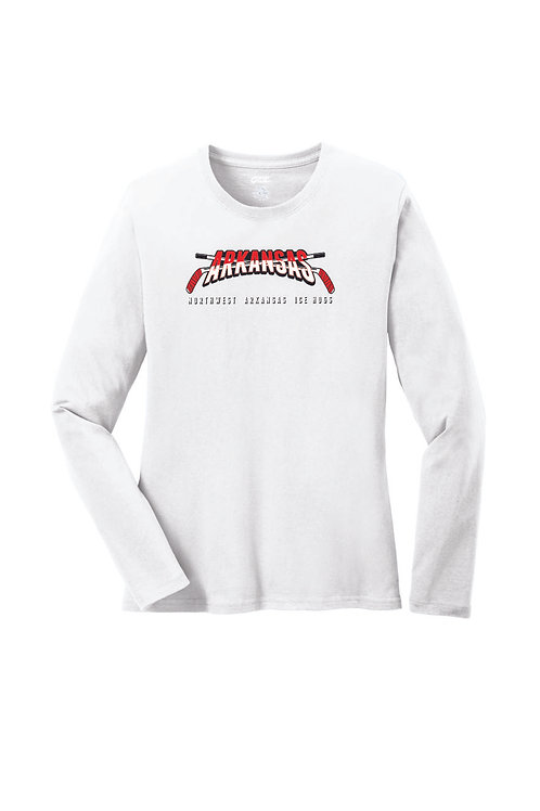 ARKANSAS - Port & Company® Ladies Long Sleeve Core Cotton Tee