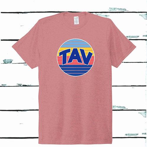 TAV SUNSET - RECYCLED UNISEX TRIBLEND T SHIRT