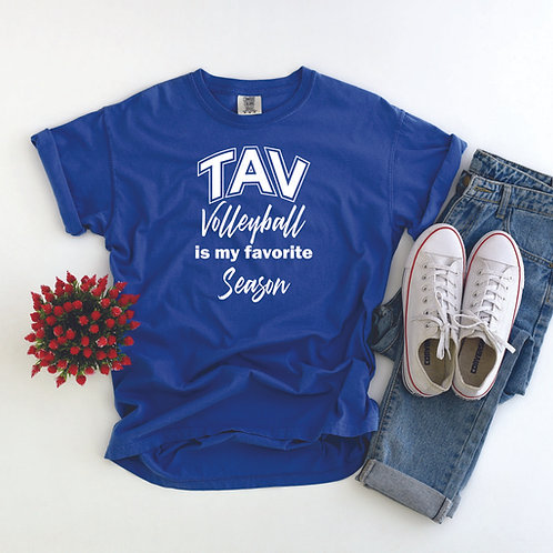 YOUTH TAV Volleyball is My Favorite - Comfort Colors ® Heavyweight Ring Spun T