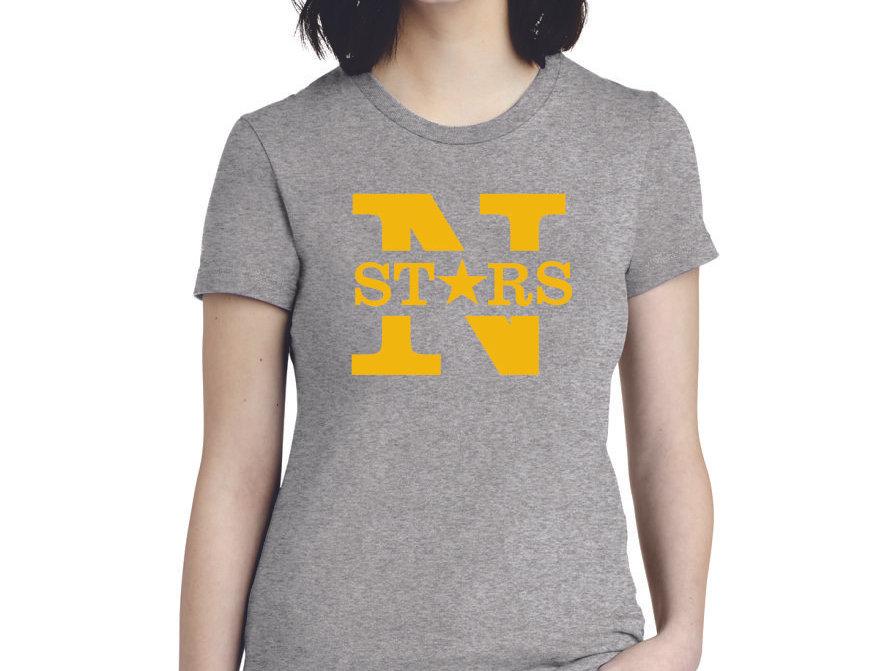 N STARS DESIGN - American Apparel ® Women's Fine Jersey T-Shirt