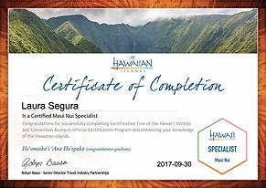 Maui Nui certificate.png