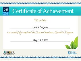 Certificate. Cancun Experiances.png