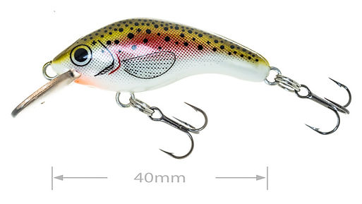 Predatek MicroMin fishing lure in Rainbow Trout colours