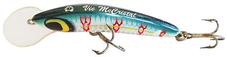 In honour of renowned Australia outdoor writer, Vic McCristal (1928—2015), thi Predatek lure colourschem is named 'McSea'. Vic designed the scheme and Predatek started producing it in the 1990s.