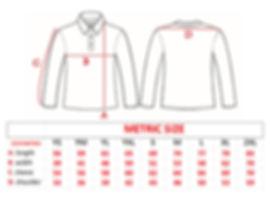 Predatek fishing shirt size chart