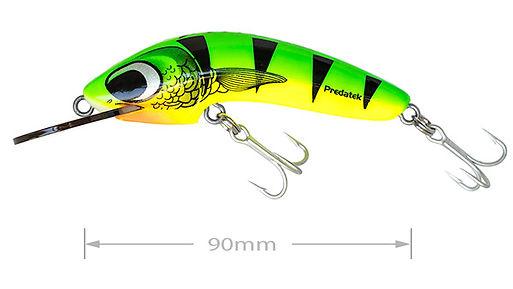 Predatek W90 Woomera fishing lure in Hot Tiger colours