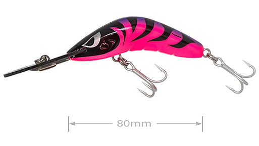 Predatek B80D Boomerang fishing lure in Purple Thing colours
