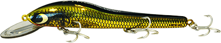 Predatek V150XG Viper fishing lure (Made in Australia) in Metalix Gold colours