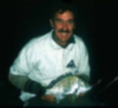 Mick Lee of Brisbane caught bream at nightby 'trolling' Predatek M40D MicroMin in the current from an anchored boat at night.