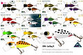 Predatek CR90 Cod Bug 'R surface fishing lure colours