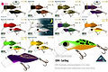 Predatek CB90 Cod Bug surface fishing lure colours