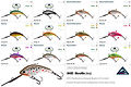Predatek M40D MicroMin fishing lure colours