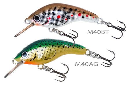 Predatek MicroMin fishing lures in Brown Trout (BT) and Aussie Gold (AG) colours
