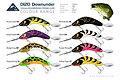 Predatek D120 Downunder Boomerang fishing lure colours