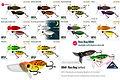 Predatek BB60 Bass Bug fishing lure colours