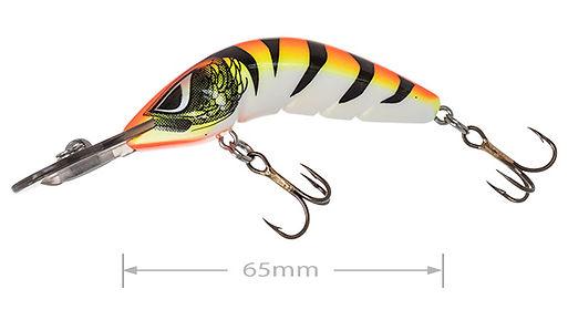 Predatek B65M Boomerang fishing lure in Fire Tiger colours