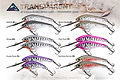 Predatek M50T transparent MinMin fishing lure colours