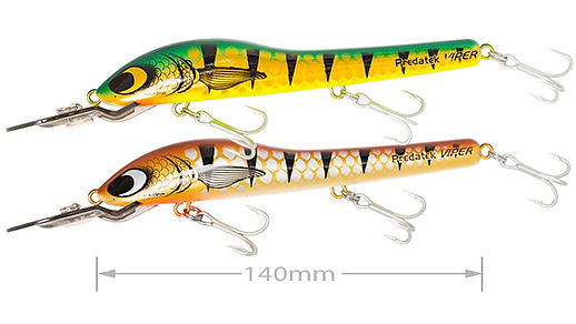 Predatek H150 HyperViper fishing lure in Aussie Gold (AG) and Bronze Bass (BS)