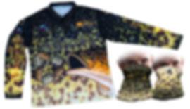 Predatek Jabberwok fishing shirt and neck gaiter