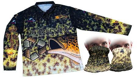 Predatek Jabberwok fishing shirt and neck gaiter
