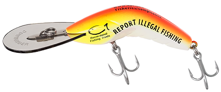 Predatek custom-printed lure for NSW Department of Fisheries