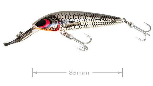 Predatek S85 Spoonbill fishing lure in Ghost Rider colours