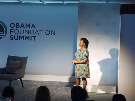 Veronica, our Africa Regional Coordinator, speaks at the Obama Foundation Summit!
