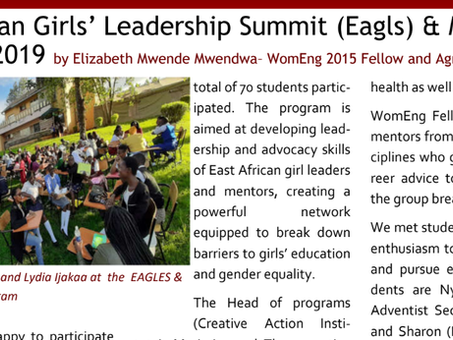 Guest Article: Women in Engineering Kenya at our East African Girls Leadership Summit