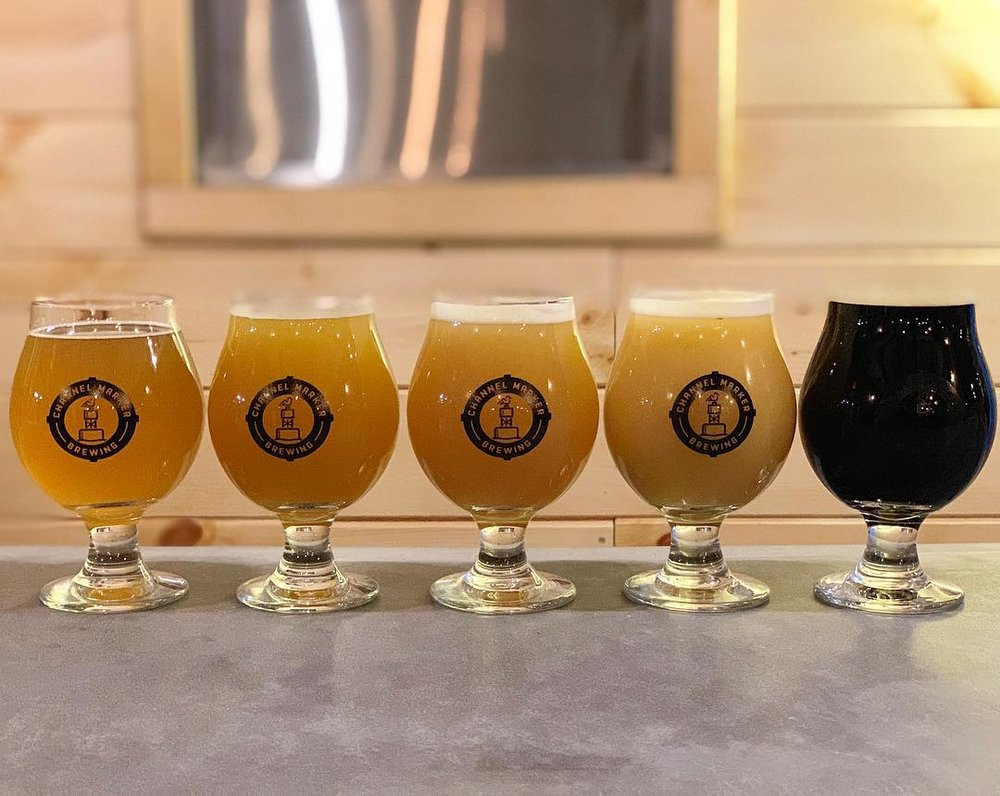 Enjoy a flight at Channel Marker Brewing.