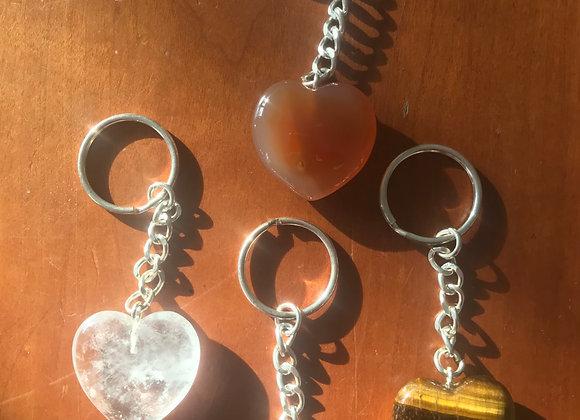 Crystal Heart Keyring