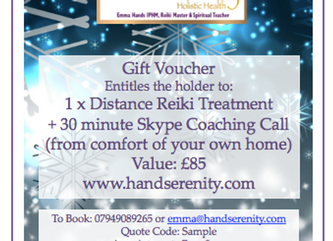 Distance Reiki + Zoom Coaching Call Gift Voucher