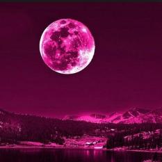 Rare Pink Libra Full Moon