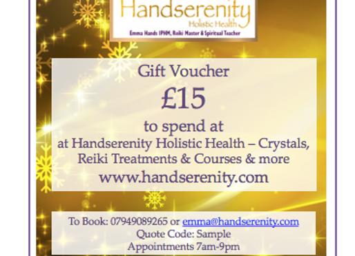 Handserenity £15 Gift Voucher