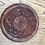 Thumbnail: Hand Carved Wooden Round Incense Holder