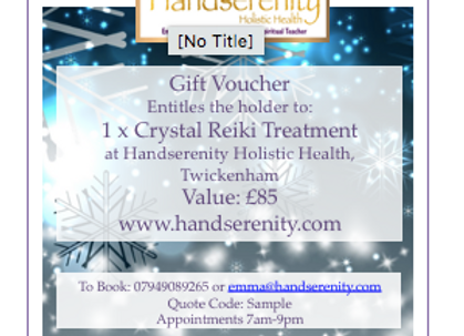 Reiki Energy Healing Treatment Gift Voucher