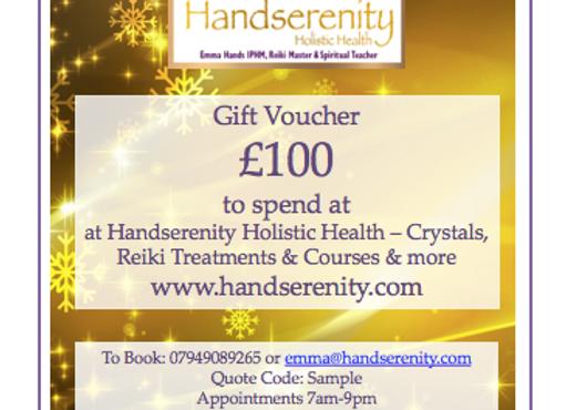 Handserenity £100 Gift Voucher