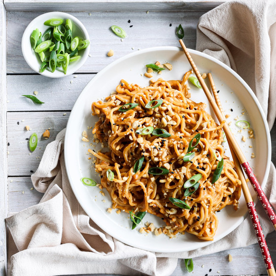 Crunchy Peanut Noodles with Chilli Oil - Plenty Foods x The Delightful Cook Collaboration