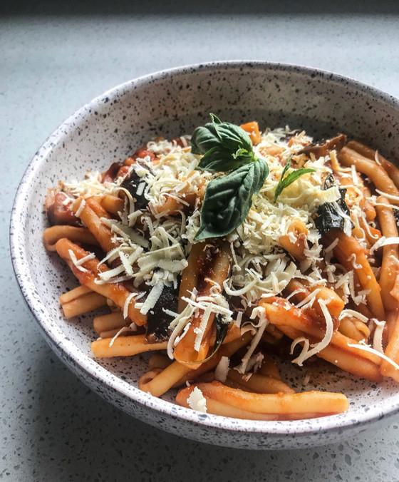 Casarecce with Eggplant Sauce