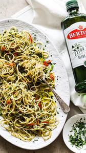 Spaghetti with Olive Oil, Chili & Garlic - Bertolli Australia x The Delightful Cook Partnership