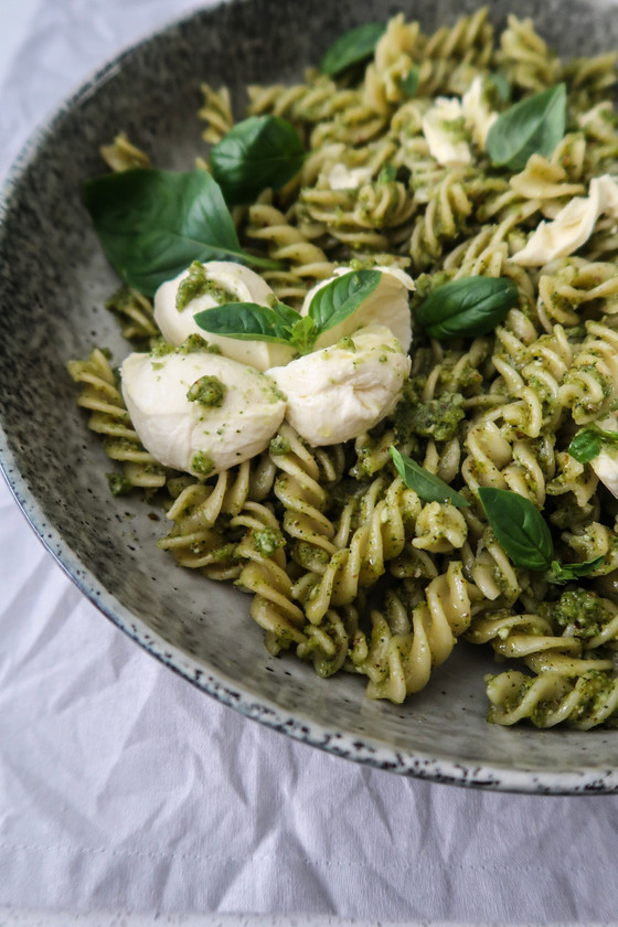 Fusilli with Broccoli Pesto