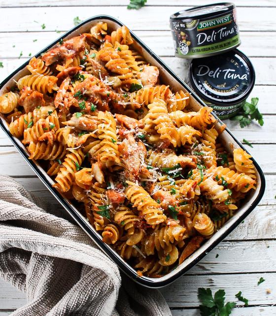 Tuna Pasta Bake - John West x The Delightful Cook - Sponsored Collaboration