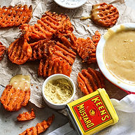 Spicy Mustard Sauce with Waffle Fries 10