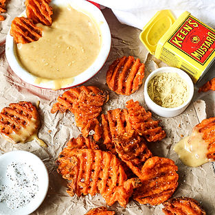 Spicy Mustard Sauce with Waffle Fries 4.