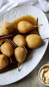 Cinnamon Vanilla Poached Pears