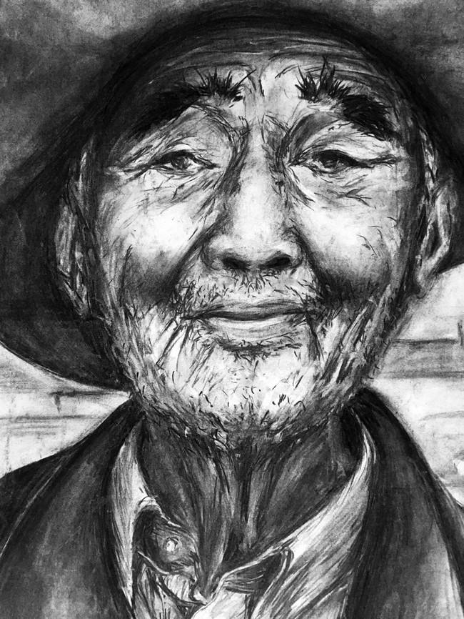 Kohlezeichnung - Portrait